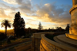 Mountain View Cemetery (Oakland, California) - View of the cemetery from Charles Crocker's Tomb