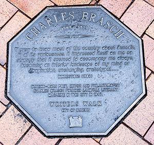 Charles Brasch - Image: Charles Brasch memorial plaque in Dunedin