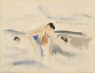 Three Figures in Water