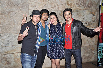 Ali Zafar - Zafar with Siddharth Narayan, Taapsee Pannu and Divyendu Sharma in Mumbai.
