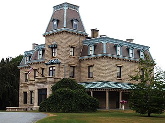 Fall River granite - Chateau-sur-Mer, constructed from Fall River granite