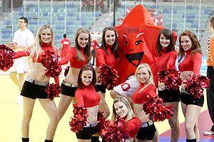2010 European Men's Handball Championship - Cheerleaders and mascot of the Championship
