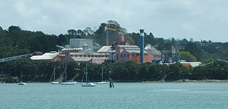 Birkenhead, New Zealand - The sugar refinery, a local landmark.