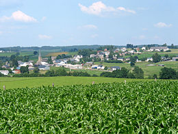 Looking across the fields towards Gouvy