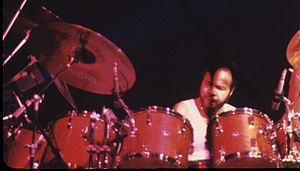 Chester Thompson - Thompson performing in 1981