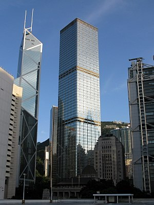 Cheung Kong Center - The Bank of China Tower (left) and the Cheung Kong Center (right)