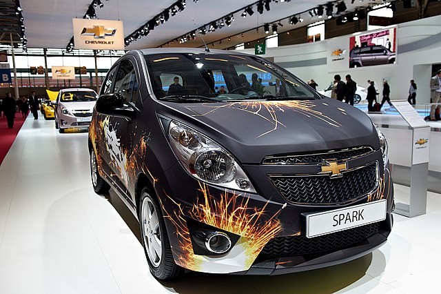 Chevy Spark with graphics