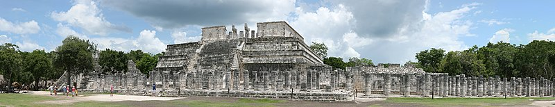 The Temple of Warriors at Chichen Itza, Mexico