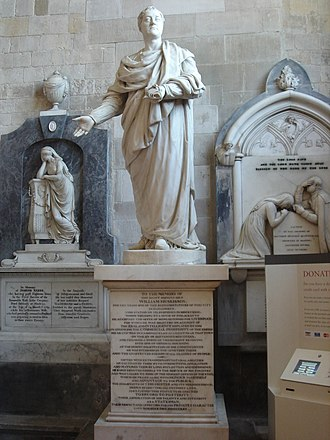 John Edward Carew - William Huskisson in Chichester Cathedral