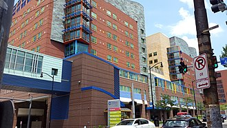 UPMC Children's Hospital of Pittsburgh - Exterior view of the Children's Hospital.