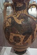 Chimera on vase at Athens' Archaeological Museum.jpg