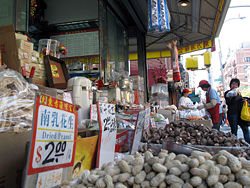 Chinatown is home to many groceries.