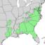 Chionanthus virginicus range map 3.png