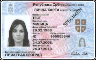 Serbian identity card