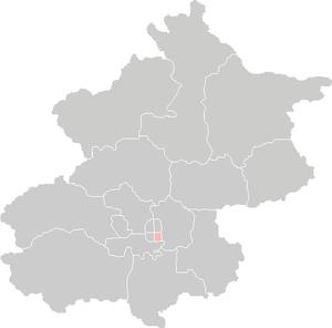 Chongwen District - Location of Chongwen on Beijing.