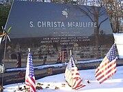 Christa McAuliffe gravestone in Concord, NH