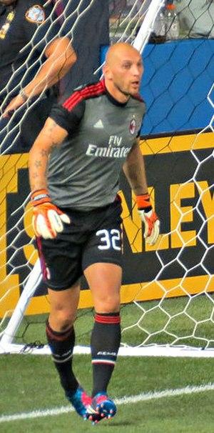 Christian Abbiati - Abbiati playing for Milan in 2012