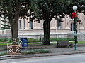 Christmas lights and decorations at Lowndes County Courthouse 2015.JPG
