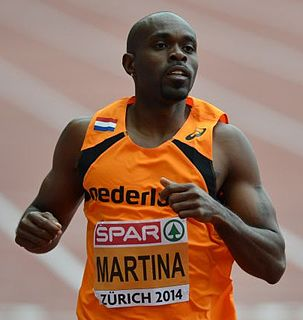 Churandy Martina Sprint athlete from the Netherlands Antilles