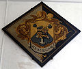 Church of St Mary interior hatchment Henham Essex England 1.jpg
