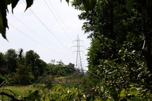 Battle of Chusto-Talasah - High Voltage Transmission Lines now traverse over the core battlefield land at Chusto-Talasah. Photo taken in July 2011 by Jeffrey S. Williams
