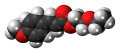 Space-filling model of the cinoxate molecule