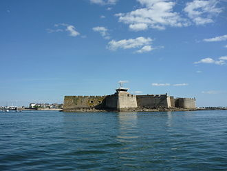 Port-Louis, Morbihan - The Citadel of Port-Louis, viewed from the water.