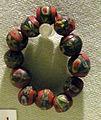 Cividale, man, gruppo di perle millefiori in pasta vitrea da necropoli di san giovanni tomba 158, seconda metà del VI sec.jpg