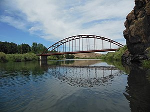 Oregon Route 218 - Clarno Bridge carrying OR 218 over the John Day River