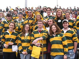 William & Mary Pep Band - The William and Mary pep band members from the class of 2010 during a home football game in the fall of 2009.