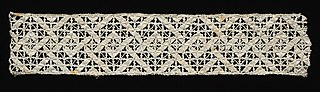 Band of Needlepoint (Reticella) Lace Insertion