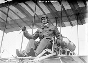 Clifford B. Harmon - Clifford B. Harmon seated in airplane