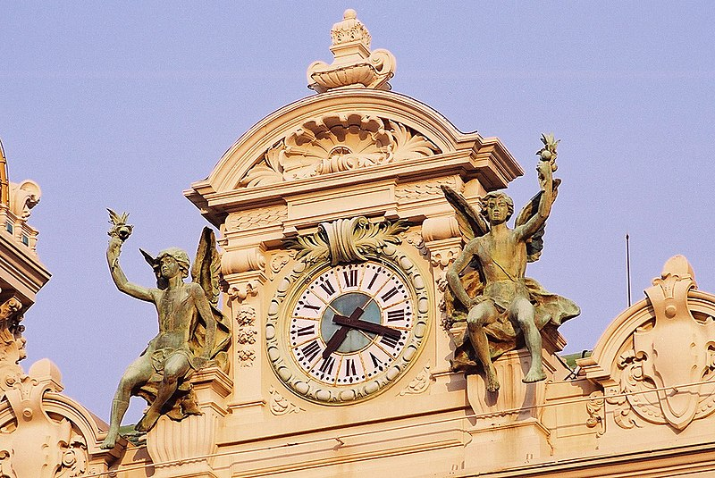 File:Clock on top of Monte Carlo casino.jpg