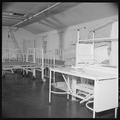 Closing of the Jerome Relocation Center, Denson, Arkansas. Hospital beds and mattresses assembled i . . . - NARA - 539637.tif