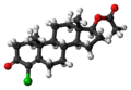 Clostebol acetate molecule ball.png