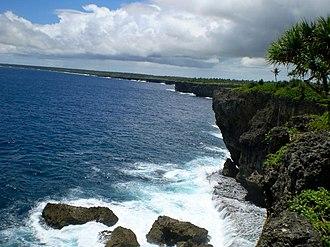 Geography of Tonga - Coastline in Tonga.