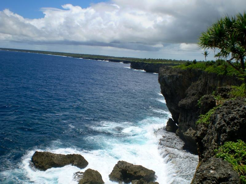 Coastline in Tonga
