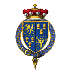 John Beaumont, 4th Baron Beaumont - Arms of Sir John Beaumont, 4th Baron Beaumont, KG