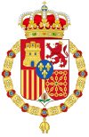 Coat of Arms of Spain (c.1883-1931) Golden Fleece Variant.svg