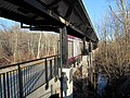 Cohasset station in the swamp, March 2014.JPG
