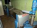 Cold press olive oil machine at Saba Habib in Israel.jpg