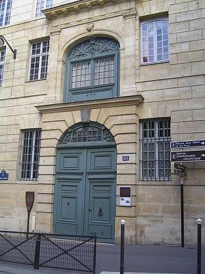 Scots College (Paris) - Entrance of the Scots College (Paris)