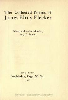 Collected poems of Flecker.djvu