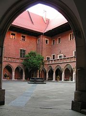 Inner courtyard of the old main building of the Jagiellonian University (Collegium Maius)