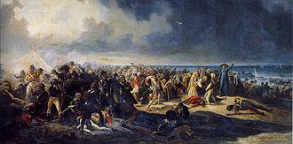Invasion of France (1795) - Combat de Quiberon en 1795, painting by Jean Sorieul
