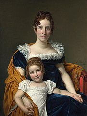 Portrait of the Comtesse Vilain XIIII and her Daughter