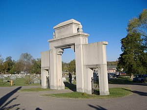 Confederate Memorial Gateway in Hickman - Image: Confederate Memorial Gateway in Hickman back