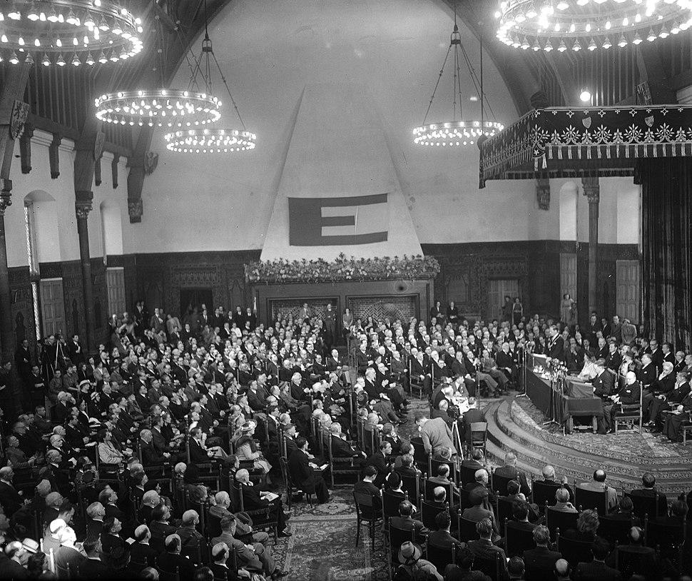 Congres van Europa in de Ridderzaal. Overzicht, Bestanddeelnr 934-6838