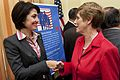 Congresswoman Cathy McMorris Rodgers greets Deborah Mullen, 2009.jpg