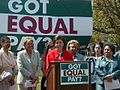 Congresswoman Pelosi at the National Committee on Pay Equity (7677801114).jpg